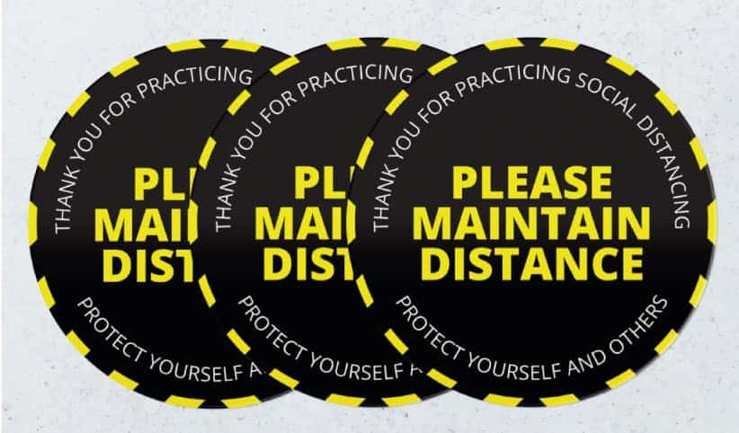 social Distance stickers
